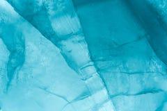 Slut för makro för istexturbakgrund upp i solljus Härliga abstrakta modeller av djupfryst vatten arkivbild