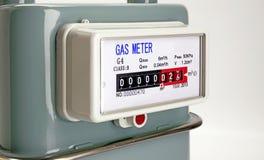 Slut för naturgasmeter upp Royaltyfria Bilder