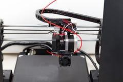 slut för skrivare 3d upp Progressiv modern teknologi Fotografering för Bildbyråer
