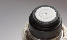 Slut för termosöppen-slut lock upp Fotografering för Bildbyråer