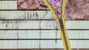 slut för tolkning 3d upp blixtlåstextur på isolerad bakgrund med Royaltyfri Fotografi
