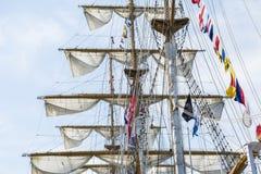 Slut från ett högväxt skepp Arkivfoto