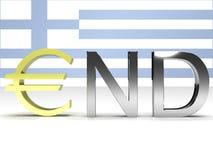 slut greece Royaltyfri Fotografi