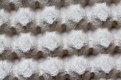 Slut som specificeras upp av pappers- bakgrund för textur för äggbehållareask Royaltyfri Foto