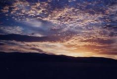 Slut till en perfekt dag i Idaho Arkivbilder