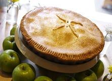 Slut upp äppelpajen Royaltyfri Bild