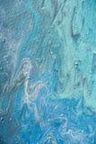 slut upp av abstrakt akrylljus - blå bakgrund Royaltyfri Foto