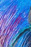 Slut upp av abstrakt begrepp målad kanfas Arkivfoto