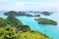 Slut upp av Ang Thong National Marine Park, Thailand Arkivfoto