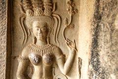 Slut upp av Apsara royaltyfri bild