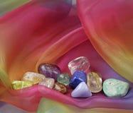 Slut upp av att läka kristaller Arkivbild
