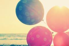 Slut upp av ballonger Arkivfoton