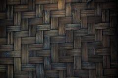 Slut upp av bambubasketwork Royaltyfri Foto