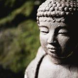 Slut upp av Buddhahuvudet arkivbild