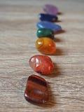 Slut upp av Chakra stenar Royaltyfri Fotografi
