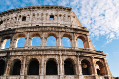 Slut upp av Colosseum, Rome Arkivfoton