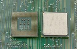 Slut upp av CPU-processorn Royaltyfria Foton