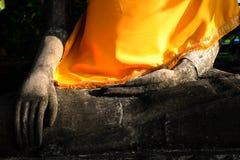 Slut upp av den buddha och solstrålen Arkivfoto