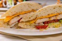 Slut upp av den Ciabatta rullsmörgåsen Arkivfoton