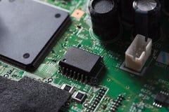 Slut upp av den elektroniska strömkretsen Fotografering för Bildbyråer