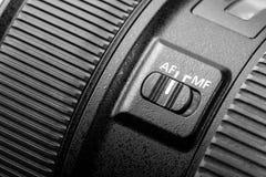Slut upp av den moderna kameran Fotografering för Bildbyråer