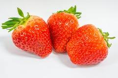 Slut upp av den nya jordgubben Arkivbild