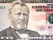 Slut upp av den nya räkningen för dollar 50 royaltyfria bilder