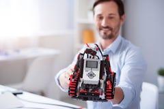 Slut upp av den nya robotuppfinningen Royaltyfri Foto