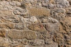 Slut upp av den red ut stenväggen Royaltyfria Bilder