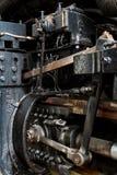 Slut upp av den ström drev lokomotivet Royaltyfri Foto