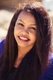 Slut upp av den unga damen Smiling Royaltyfri Fotografi