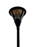 Slut upp av den utomhus- lampan Arkivfoton