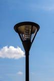 Slut upp av den utomhus- lampan Arkivbilder