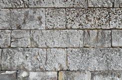 Slut upp av det gamla stenmurverket Arkivfoton