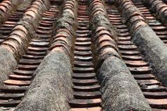 Slut upp av det kinesiska taket Arkivfoto
