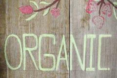 Slut upp av det organiska tecknet Fotografering för Bildbyråer