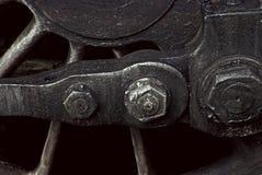 Slut upp av det retro drevhjulet royaltyfri fotografi