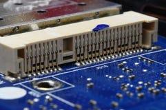Slut upp av elektroniska delar för dator Fotografering för Bildbyråer