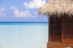 Slut upp av en bungalow i Maldiverna Fotografering för Bildbyråer