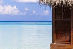 Slut upp av en bungalow i Maldiverna Royaltyfria Foton