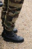 Slut upp av en fransk soldat Arkivbild