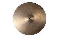 Slut upp av en gammal cymbal Royaltyfria Bilder
