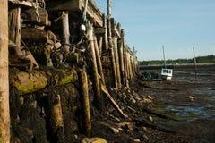 Slut upp av en gammal hamnplats Arkivfoto