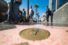 Slut upp av en Hollywood boulevardstjärna arkivfoto