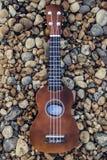 Slut upp av en ukulele arkivbilder