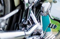 Slut upp av ett motorcykelavgasrör Royaltyfri Bild