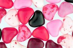 Slut upp av färgrika Valentine Candies Arkivfoton