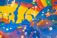 Slut upp av färgrikt enkelt abstrakt Arkivbild