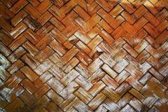 Slut upp av fernissa för bambuflätverkväv Royaltyfri Bild