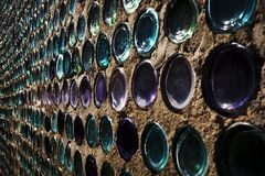 Slut upp av flaskhuset i Rhyolite Navada, Death Valley fotografering för bildbyråer